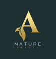 letter a luxury letter logo design icon vector image vector image
