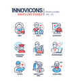life stages a man - line design style icons set vector image vector image