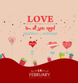 love heart background with trees heart vector image vector image