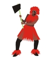 man tribe red vector image