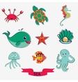 Marine creatures vector image vector image