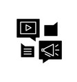 media online library black icon sign on vector image vector image