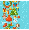 Merry Christmas holiday seamless pattern with vector image