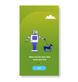 modern robot walking dog house helper bot vector image vector image