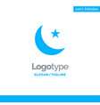 moon night star night blue solid logo template vector image vector image