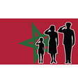 Morocco soldier family salute vector image