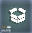 Open box icon On the blue-green abstract vector image vector image