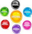 original buttons vector image