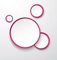 Paper white-fuchsia round speech bubbles vector image vector image