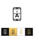 Phone navigation or travel mobile gps geolocation vector image vector image