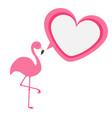pink flamingo exotic tropical bird zoo animal vector image vector image