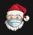 santa claus wearing medical face mask image vector image
