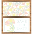 Save the day card templates vector image vector image
