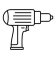 screwdriver icon outline style vector image vector image