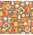 seamless pattern of fast food vector image