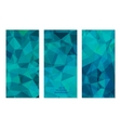 set abstract geometric polygonal backgrounds vector image