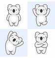 set cute koala characters