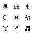 set of 9 editable sound icons includes symbols vector image vector image