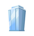 skyscraper glass building isolated on white vector image vector image