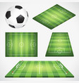 soccer football field and ball vector image