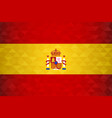 spain country flag spanish nation vector image
