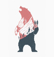 standing bear vector image vector image