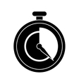 stopwatch fast delivery symbol pictogram vector image