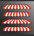 store awning shop canopy store tent red striped vector image vector image