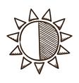 Sun brightness contrast symbol vector image vector image