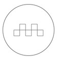 taxi symbol icon black color in circle vector image vector image