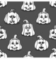 Textured pumpkins vector image vector image