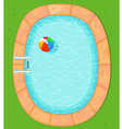 Top View Pool vector image