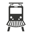 train rail silhouette icon vector image