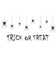 trick or treat hand-drawn halloween holiday vector image vector image