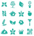 Vegetarian food icons vector image vector image