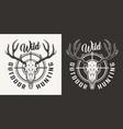 vintage hunting monochrome logo vector image