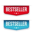 Best Seller red and blue ribbon vector image