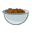 bowl with cereal icon vector image
