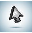 huge mouse cursor vector image
