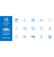15 greeting icons vector image vector image