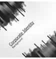 Abstract background black city vector image vector image