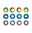 Abstract color icon set vector image vector image