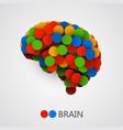 abstract creative concept brain made vector image