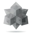 Abstract geometric shape isolated vector image