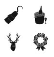 animal literature and or web icon in black style vector image vector image