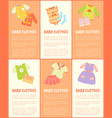 baby clothes collection text vector image vector image