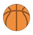 basketball ball equipment sport line and fill vector image