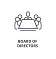 board of directors line icon outline sign linear vector image vector image
