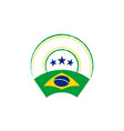 brazilian flag retro stamp vector image