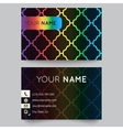 business card template bright elegant pattern vector image vector image